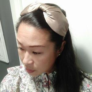 Gold/Taupe Japanese Large Bow Headband